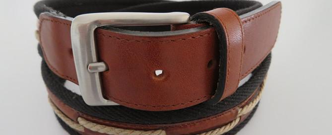 Frei Gürtel, Kombination aus Leder und Stoff