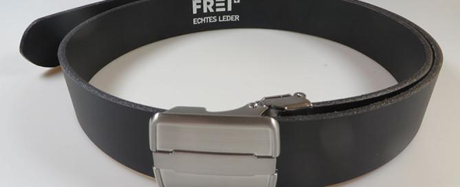 Frei Gürtel - Gurt ohne Löcher, stufenlos einstellbear